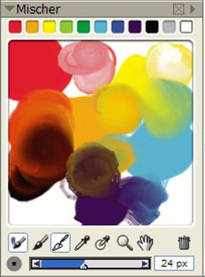 Mischpalette bei Corel Painter X 10