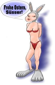 Osterhase zu Ostern: Sexy Osterhasi grüßt Ihren Süssen